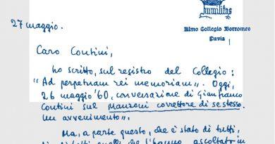 lettere Angelini Contini collegio Borromeo